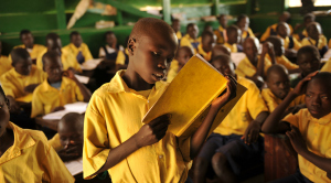 Harvesters Christian Home Orphanage and School in Yei, south sudan.  Mosquito nets and water well.